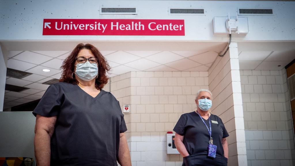 Susan Graziano and Staff Nurse Barbara Ackerson