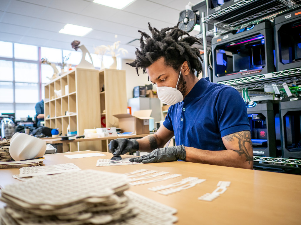 Altarik Banks '18, innovation and design researcher for the Mix Lab.