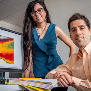 Doctoral candidate Isamar Marie Cortés and Earth and Environmental Studies Assistant Professor Jorge Lorenzo Trueba are studying mangroves for NASA.