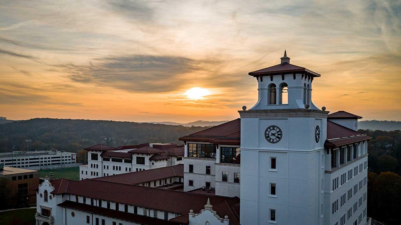 University Hall aerial shot