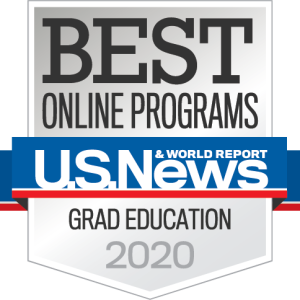 "U.S. News & World Report ""Best Online Programs 2020"" Badge"