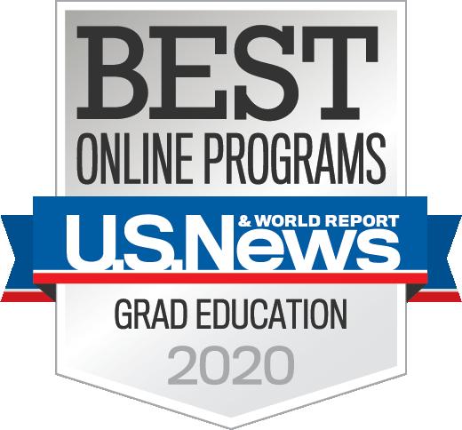 """U.S. News & World Report """"Best Online Programs 2020"""" Badge"""