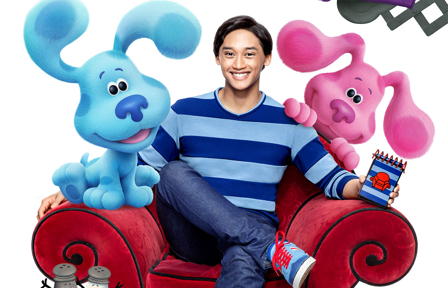 Josh Dela Cruz with Blue's Clues characters