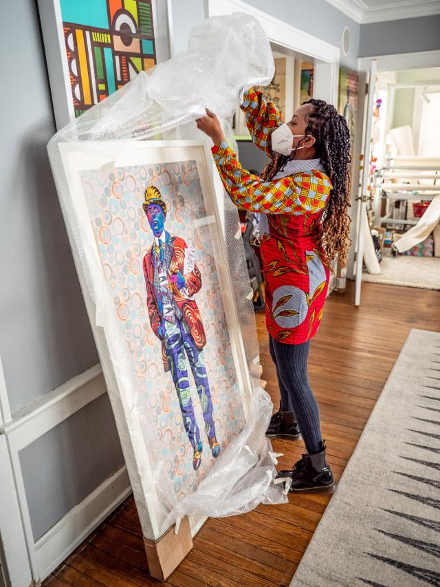 Butler at her studio in West Orange, New Jersey.