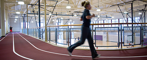 Campus Recreation Center student indoor track