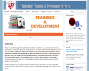 Technology Training website screenshot
