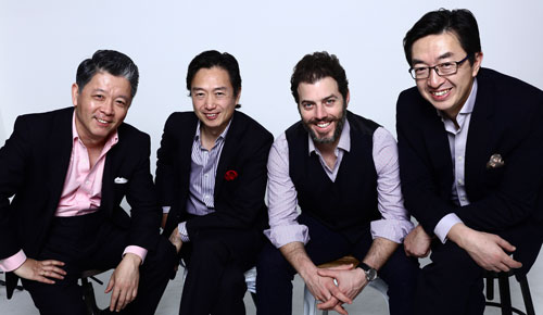 Picture of the four members of the Shanghai Quartet.