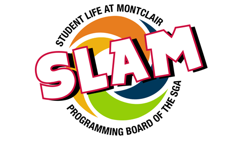 Graphic of the SLAM - Student Life at Montclair - logo.