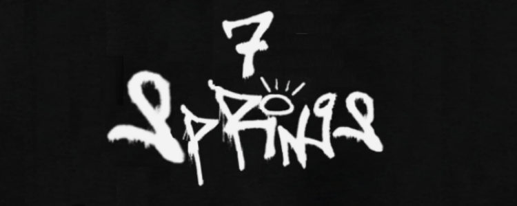 The words 7 Springs written in graffiti.