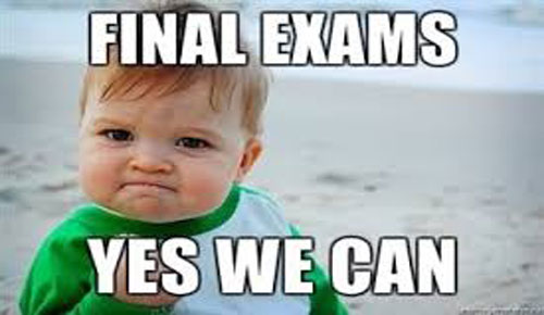 Baby meme with the words Final Exams Yes We Can.
