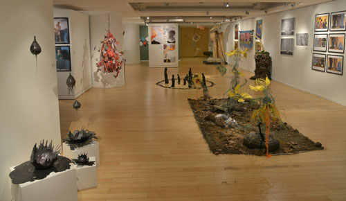 Picture of the BFA gallery art works.