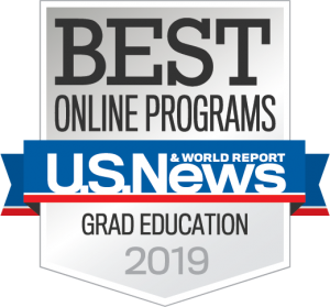 US News Best Online Programs Graduate Education 2019 badge