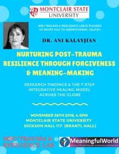 flyer for Dr. Kalayjian's talk on Trauma