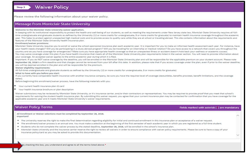 Waiver instructions for the Aetna Student Health plan.
