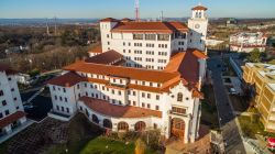 Aerial photo of University Hall