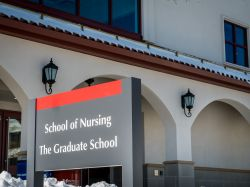photo of the sign outside the School of Nursing