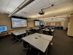 Photo of room 1120 in the ADP Center for Learning Technologies