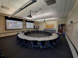 Photo of room 1145 in the ADP Center for Learning Technologies