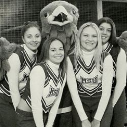 Cheerleaders from the class of 2005