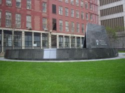 Photo of African Burial Groudn monument