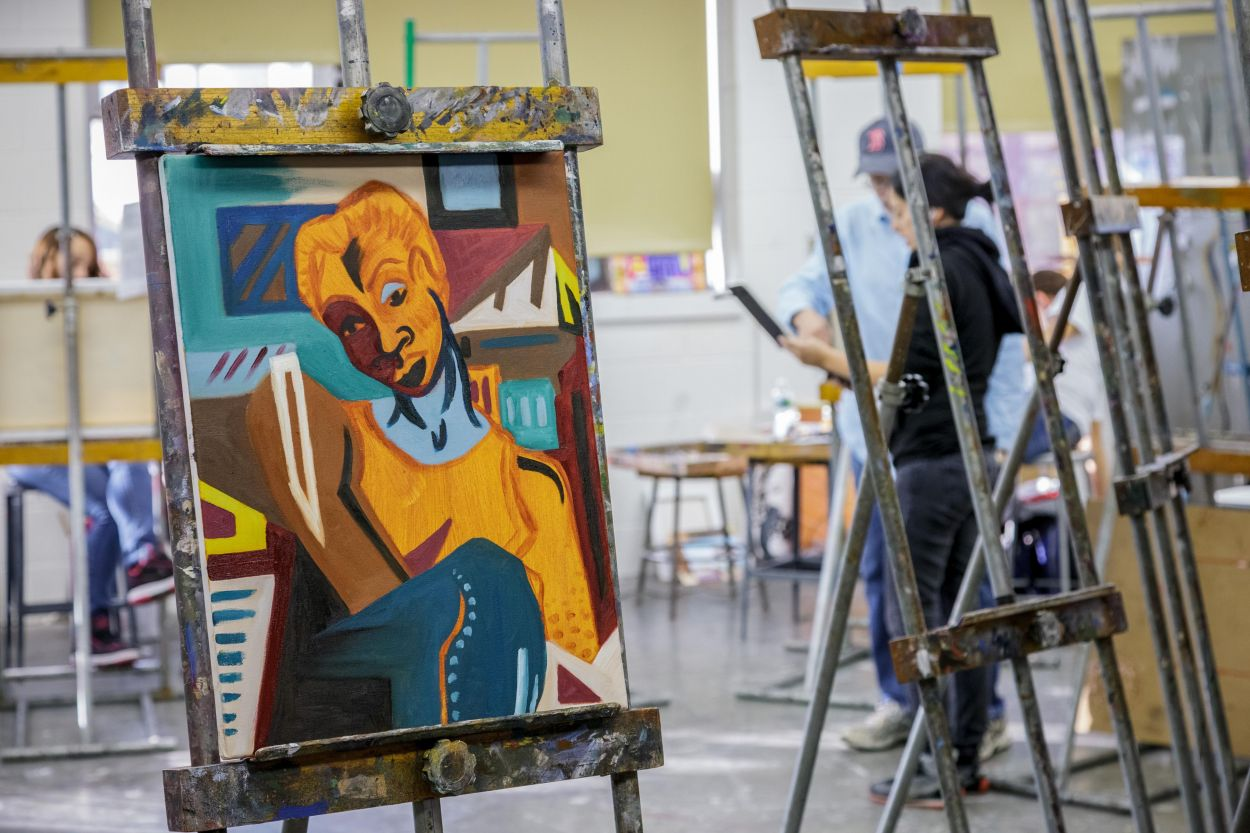 visual arts ba montclair painting class department state university programs student degrees
