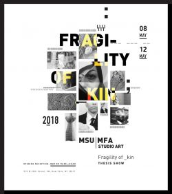 2018 MFA Thesis show promotional poster