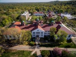 College Hall from the air