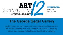 "Feature image for George Segal Gallery Exhibits ""Arts Connection 12"" Through April 9th"