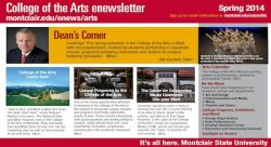 Feature image for Spring 2014 College of the Arts' E-Newsletter