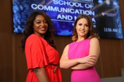 From the left, show hosts Lataya Rothmiller and Madison Glassman