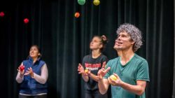 Mathematicians Juggling on stage