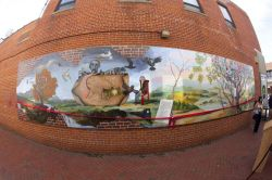 panoramic shot of mural