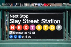 "sign for ""Slay Street Station"""