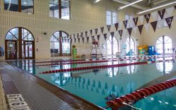 Shot of the indoor pool at the Recreation Center