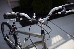 close up of bike's handle bars