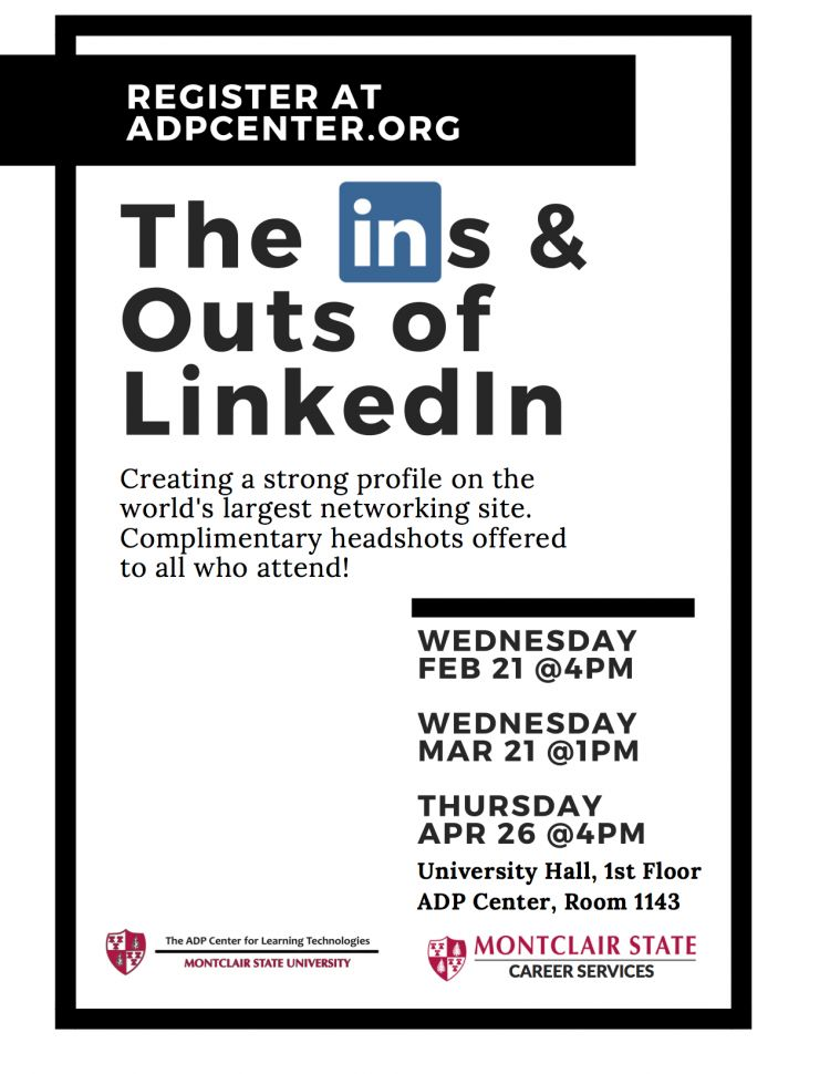 Career Services Workshop (The Ins and Outs of LinkedIn) - University