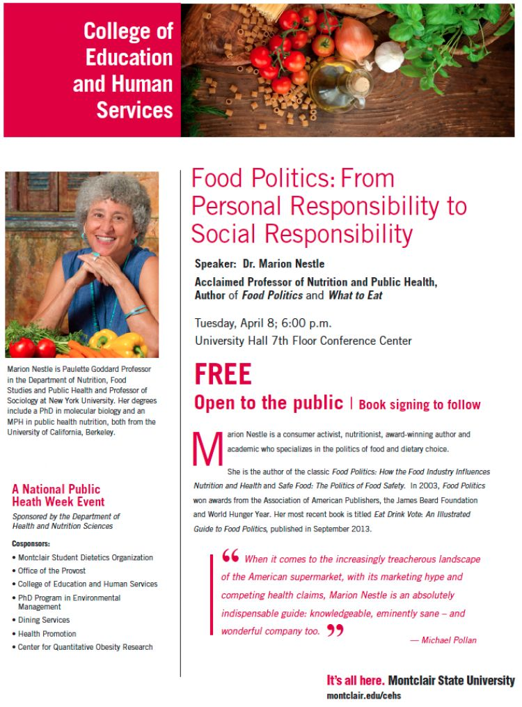 Food Politics: From Personal