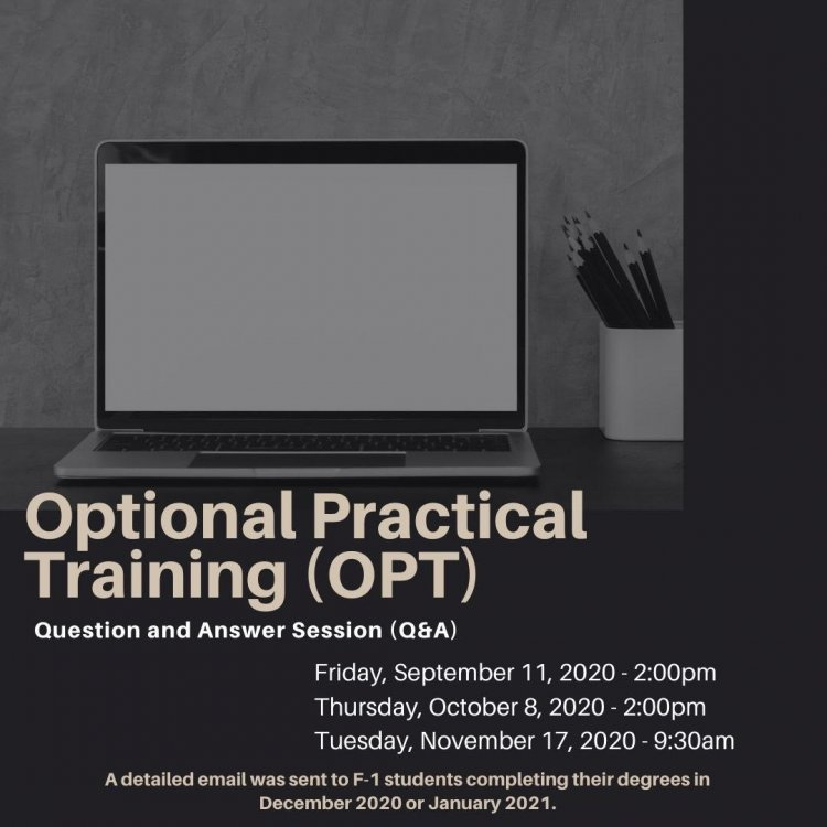 Montclair State University Calendar 2021 Optional Practical Training (OPT) Workshop   University Calendar