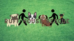 Clipart photo of dogs with the title of the event