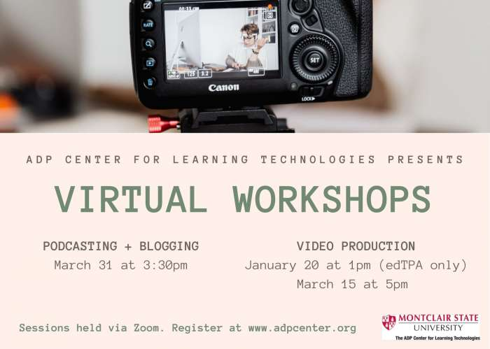Virtual Podcasting + Blogging   University Calendar   Montclair