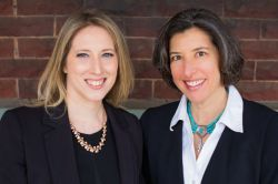 Photo of Dr. Jennifer Urban-Brown and Dr. Miriam Linver