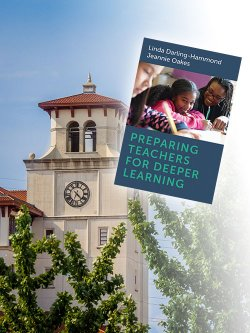 Picture of University Hall tower and book cover of new book by Harvard University Press featuring MSU Teacher Education Program