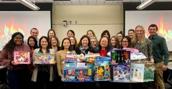 Photo of CEHS staff at Toy Drive for Joey's Little Angels