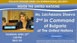 Feature image for 2nd in Command of Bulgaria at the UN to speak at MSU