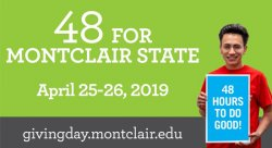"Feature image for Support CHSS with ""48 For Montclair State"" Campaign"
