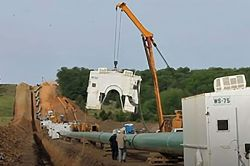 natural gas pipeline installation