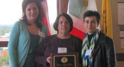 Coccia-Inserra Teaching Award Recipients:  2011 - Rosalie Romano, 2012 - Maria Abate DeBlasio, and 2010 - Rina Miraglia.