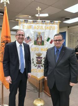 Dean of College of the Humanities and Social Sciences (CHSS) Robert Friedman with Raffaello Marzullo at Montclair City Hall