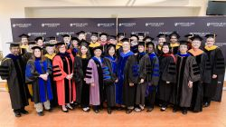Faculty and staff at Commencement