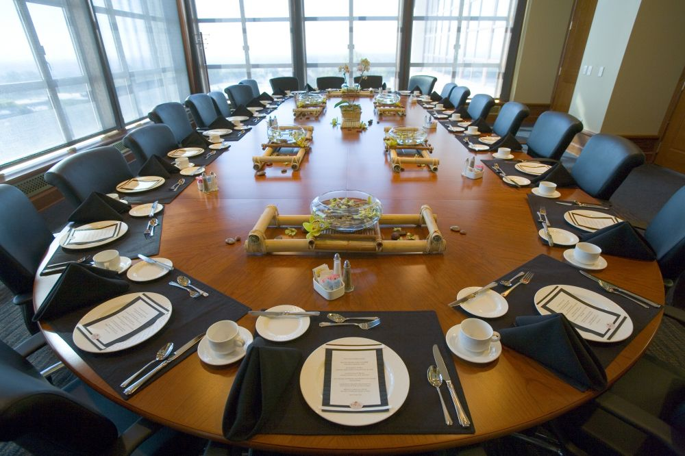 Presidents Dining Room Conference Center Montclair State University - Dining room table place settings